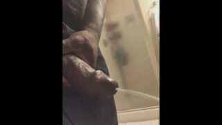 Recording while rubbing one out in the bathroom